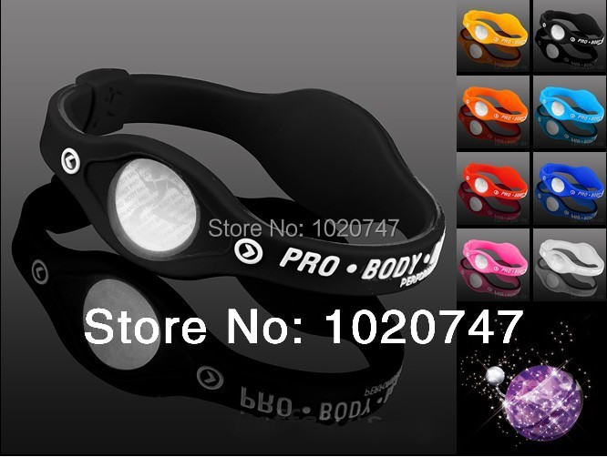 Free Shipping Power Energy Hologram Bracelets Wristbands Balance Ion Magnetic Therapy Fashion Silicone Bands