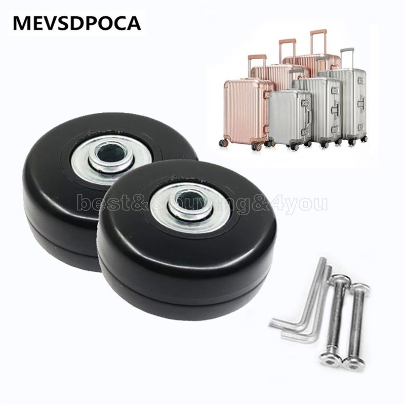 MEVSDPOCA 2pcs 40*18mm Luggage Suitcase Replacement Wheels Axles Repair Wrench cnc 1610 with er11 diy cnc engraving machine mini pcb milling machine wood carving machine cnc router cnc1610 best toys gifts