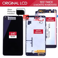 100% Tested Brand Black TFT 1280×720 For Microsoft Lumia 640 LCD Display With Touch Screen Digitizer Assembly with Frame