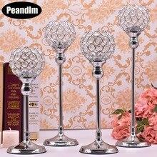 PEANDIM K9 Crystal Wedding Candle Holder Sets Table Centerpieces Candlesticks Parties Christmas Decor  Candle Lantern Candelabra все цены