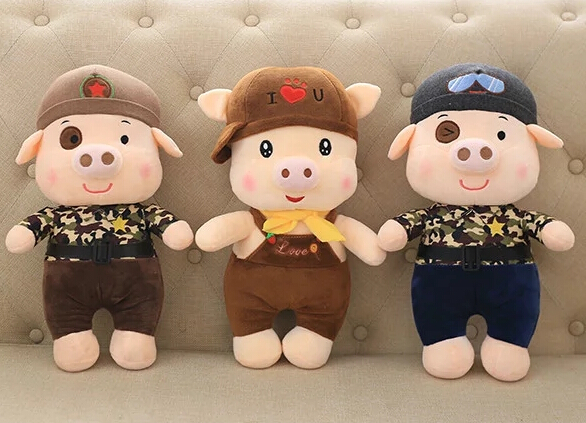 Gift for baby 1pc 40cm camouflage McDull overalls pig funny cute plush doll hold pillow novelty creative stuffed toy