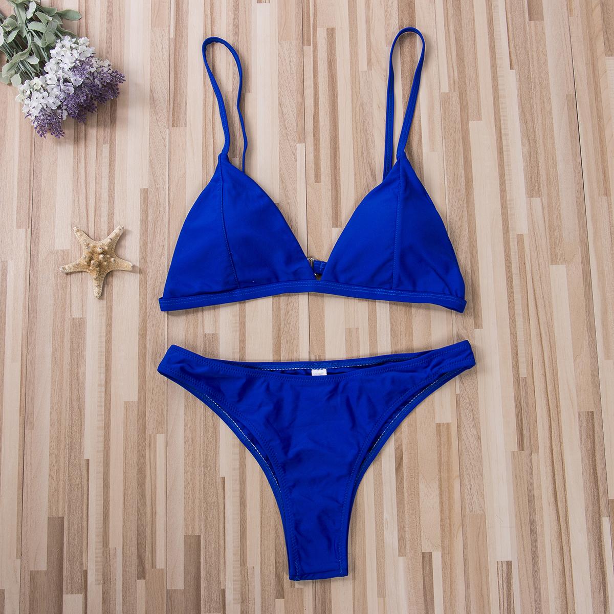 Hirigin, комплект бикини, новинка 2019, женский купальник, чистый цвет, пуш-ап, мягкий купальник, бикини, женский купальник, летняя пляжная одежда 28