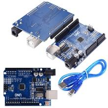 10 шт./лот UNO R3 MEGA328P CH340 CH340G для Arduino UNO R3 + USB кабель Бесплатная доставка