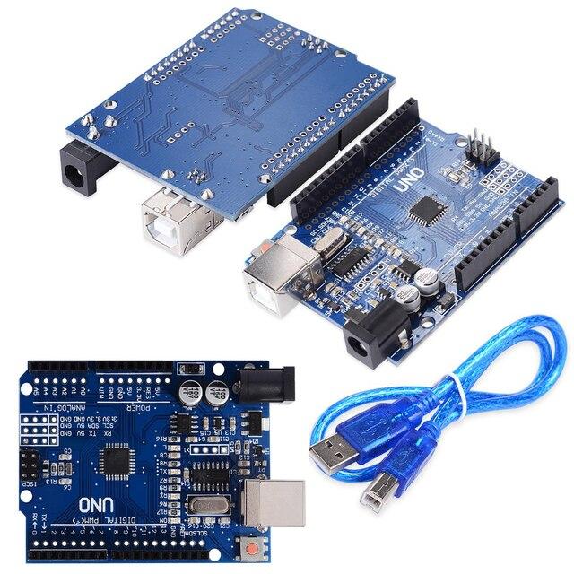 10ピース/ロットuno R3 MEGA328P CH340 CH340G arduinoのuno R3 + usbケーブル送料無料