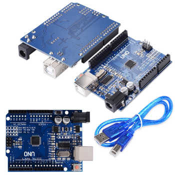 10PCS/LOT UNO R3 MEGA328P CH340 CH340G for Arduino UNO R3 + USB Cable Free Shipping - DISCOUNT ITEM  10% OFF All Category
