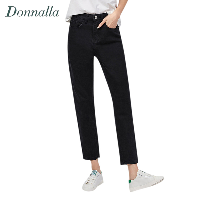 Donnalla Women Jeans Boyfriend Jeans For Women Fashion Loose Jeans Pants BF  Style Harem Jeans Woman 65d6fcae3762