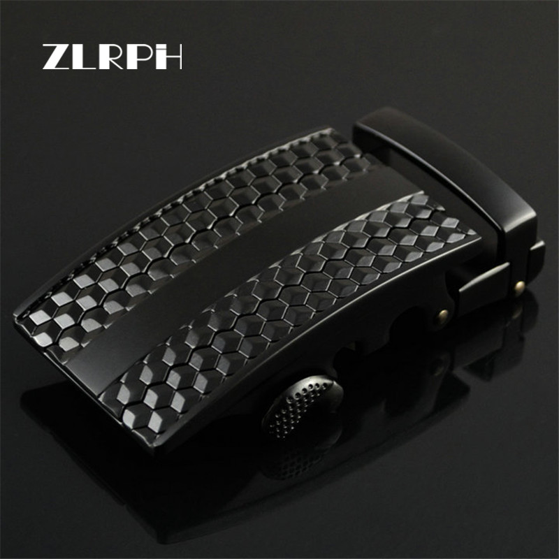 ZLRPH Famous Brand Belt Buckle Men Top Quality Luxury Belts Buckle For Men 3.4-3.6 Cm Strap Male Metal Automatic Buckle Black