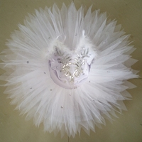 White Sequins Swan Costume Ballet Dress Girls Costumes Kids Ballerina Tutu Gymnastic Leotard Ballet Dancing Dress