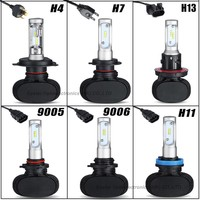 2Piece Lot Free Shipping 90W High Power H7 LED Headlight Wiht High Speed 12000R Min Fan