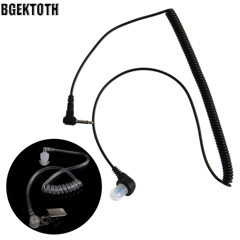 BGEKTOTH 3.5MM Plug Port Listen Only Headset Earpiece Single Earphone Clear Acoustic Tube