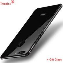 Huawei Honor 8 Pro Случае Toraise Марка Металла Высокого Качества Алюминиевый За задней стороны Обложки Huawei Honor V9 Мобильный Телефон Мешок Coque