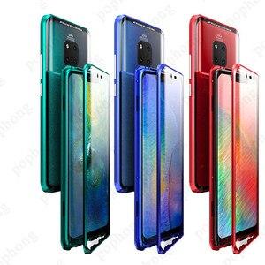 Image 1 - Роскошный защитный чехол из закаленного стекла для телефона, Магнитный чехол для Huawei P20 PRO, Huawei P30 PRO Mate 20 pro, honor View 20, ударопрочный чехол для дома