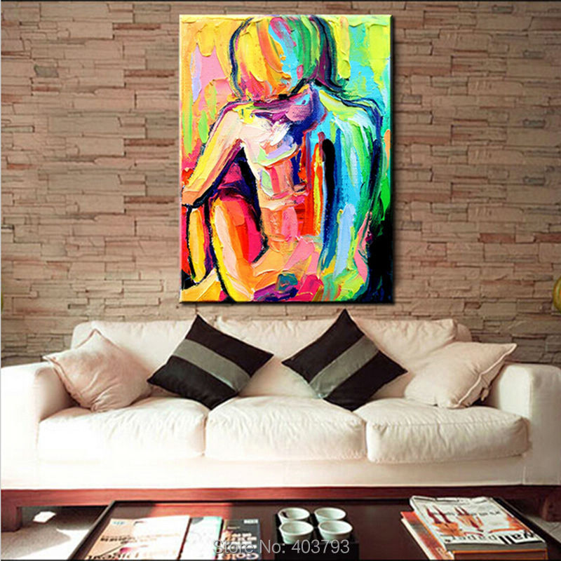 100 Hand Painted Palette font b Knife b font Abstract Oil Painting On Canvas Decorative Pictures