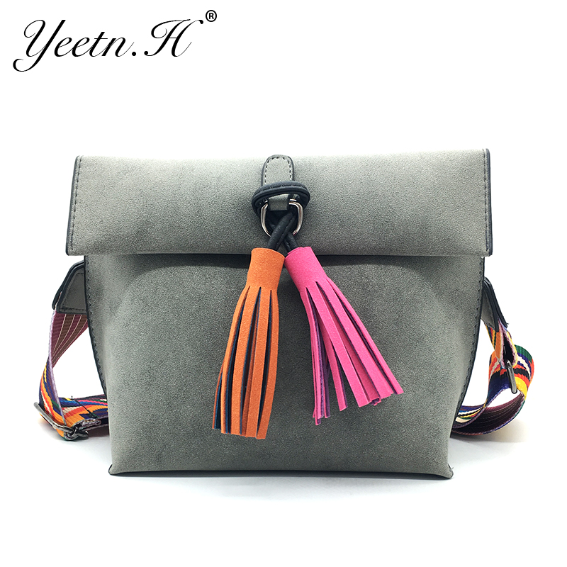 Yeetn.H New Arrival Woman Shoulder Bag Fesyen Flap Tassel Causal Tote - Beg tangan