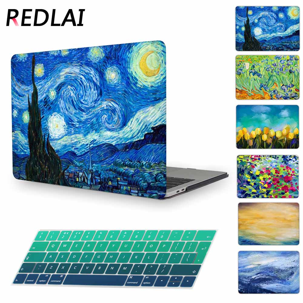 Redlai Printing 2016 Release Laptop case for Macbook Pro 15 with touch bar A1707 & A1706 & A1708 without Touch bar Pro 13 inch redlai for macbook pro 13 15 with touch bar 2016 & 2017 a1706 paisley print plastic hard case for macbook air pro 11 13 inch