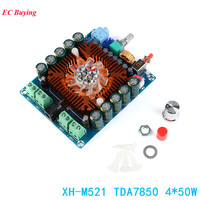XH M521 TDA7850 4x50W HIFI Audio Amplifier Board 4 50W Four Channel Car Amplifier Module Power