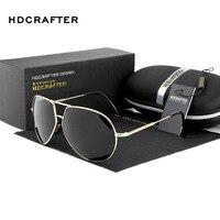 HDCRAFTERBrand Design Sunglasses Men Polarized UV400 Eyes Protect Coating Sun Glasses Google Pilot Oculos De Sol
