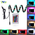 Neon Accent LED Strips Bias Backlight RGB Lights with Remote Control for HDTVFlat Screen TV Accessories Desktop PCMulti Color