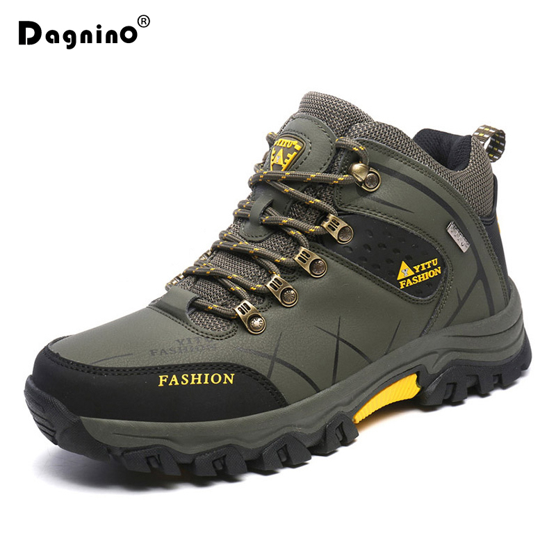 DAGNINO Winter Warm Fur Snow Men Boots Autumn Non-Slip Rubber Sole Men Ankle Boots Waterproof Men Shoes Footwear Plus Size 39-47 цена