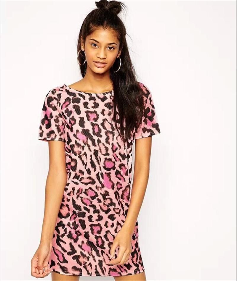 Popular Pink Leopard Dress-Buy Cheap Pink Leopard Dress lots from ...