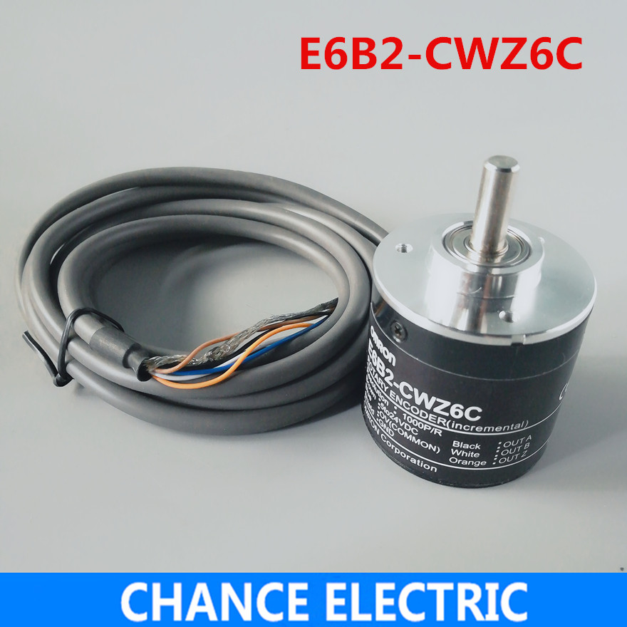 E6B2-CWZ6C Incremental Rotary Encoder 5-24VDC OPEN ABZ PHASE 2500 2000 1800 1024 600 500 400 360 200 100 60 40 30 20 1000P/R omron encoder 1000p r e6b2 cwz6c pulse photoelectric incremental rotary encoder