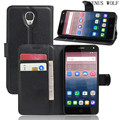 VENUS WOLF Brand Luxury Leather Case For Alcatel POP 4 5051D POP4 Case Capa Fundas Wallet With Kickstand Card Slot Shell Cases