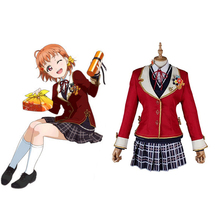Love Live Sunshine Cosplay Takami Chika Cosplay Costumes Uniform Outfit Anime Cosplay Costume Halloween Carnival Cosplay Costume цена
