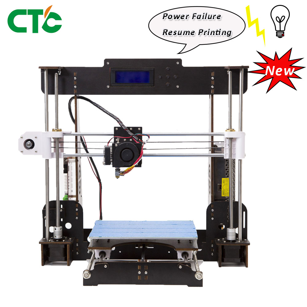 Impressora 3D A8-W5 MK8 Extrusora Reprap Heatbed Prusa i3 LCD Controlador Falha de Poder Retomar Impressão EUA Estoque