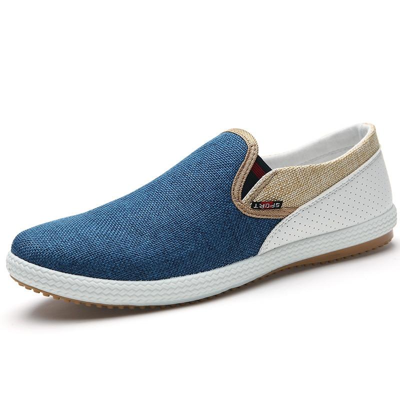 2017 Fashion Summer Men Canvas Shoes Breathable Casual Shoes Men canvas Shoes Loafers Comfortable Ultralight Lazy