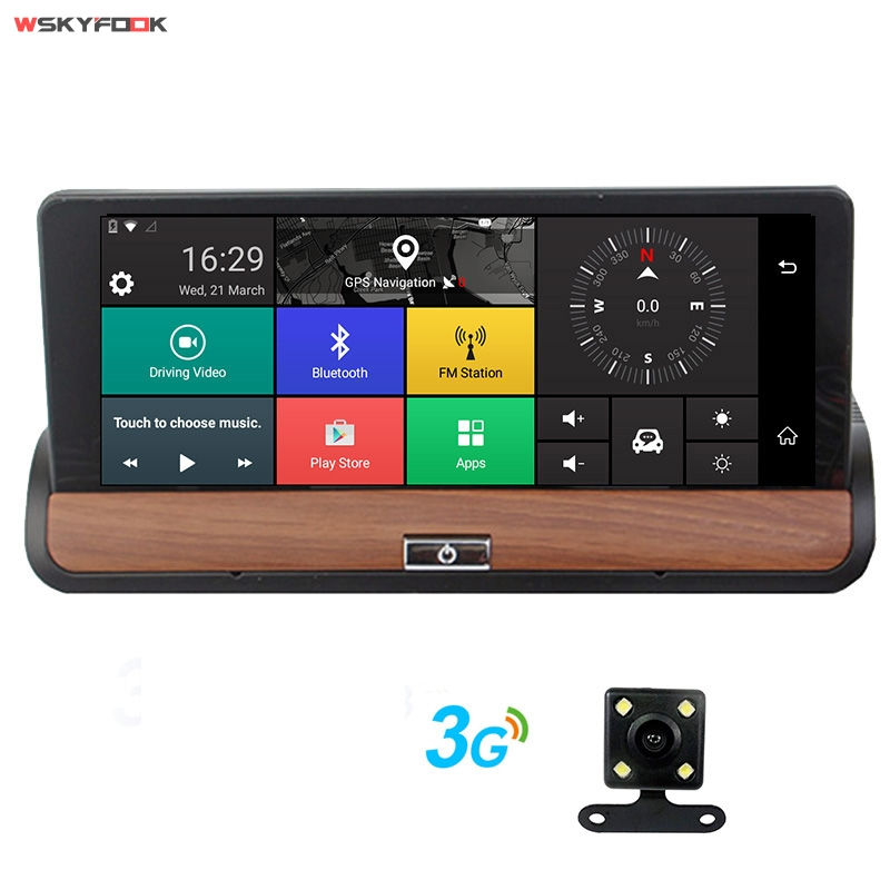 7 Touch Screen Car GPS Navigation Bluetooth Android 3G Dashcam Dual Len Recorder with Free map
