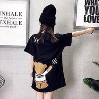 Summer T Shirt Women Cotton Fashion Harajuku Kawaii Tshirt Korean Style Ulzzang Streetwear T Shirt Plus Size Women Clothing 5G39