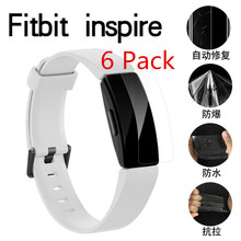 (6 Pack) High Quality Clear Screen Protector PET Soft film Shield for Fitbit Inspire/Inspire HR Wristband Anti scratch Film