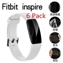 (6 paquetes) Protector de pantalla transparente de alta calidad, Protector de película suave PET para Fitbit Inspire/Inspire HR, película antiarañazos para pulsera
