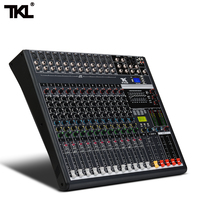 TKL 12 channel mixer DJ Audio Sound Mixing Device Recording 48V Phantom Power Monitor AUX Bluetooth USB Stage