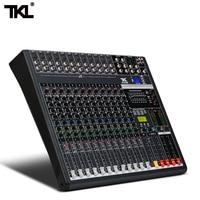 TKL 12 channel mixer DJ Audio Sound Mixing Device Recording 48V Phantom Power Monitor AUX Bluetooth USB Stage