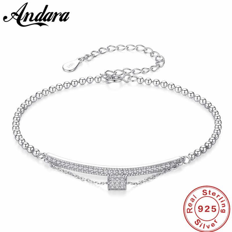 אמיתי S925 כסף צמיד AAA זירקון חרוזים אישה צמיד יוקרה תכשיטים סיטונאי