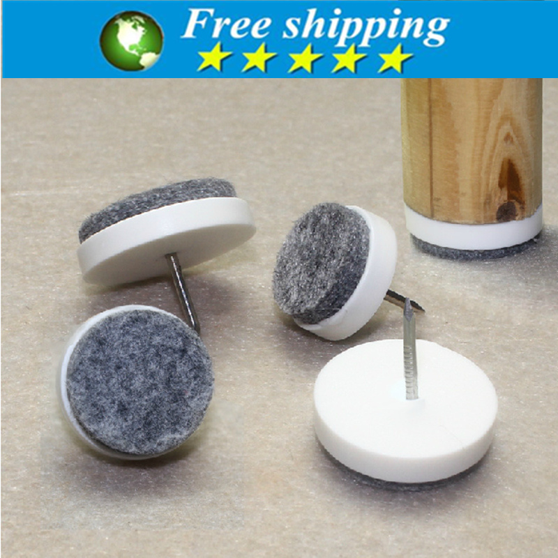 DIY Nail Protector Round No Noise Furniture Table Leg Anti Slip Mat Floor  Felt Skid Glide Slide Chair Feet Pads.