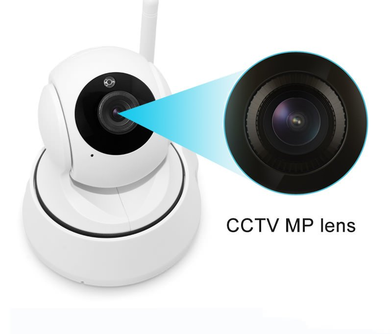 1.0MP Home Wireless IP Camera Wifi 720P Smart IR-Cut Night Vision P2P Baby Monitor Surveillance Onvif Network Security Camera bw wifi ip camera hd 720p smart p2p baby monitor infrared ir wireless surveillance security network cctv onvif with door sensor