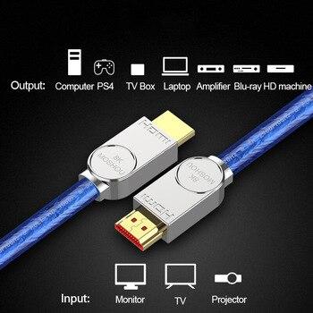 HDMI Cables 2.1 8K 120Hz HDR 48Gbps HIFI ARC 12 Bit 7680*4320 px with Audio & Ethernet 1M 2M 3M 4M 5M HDR 4:4:4 MOSHOU amplifier 1