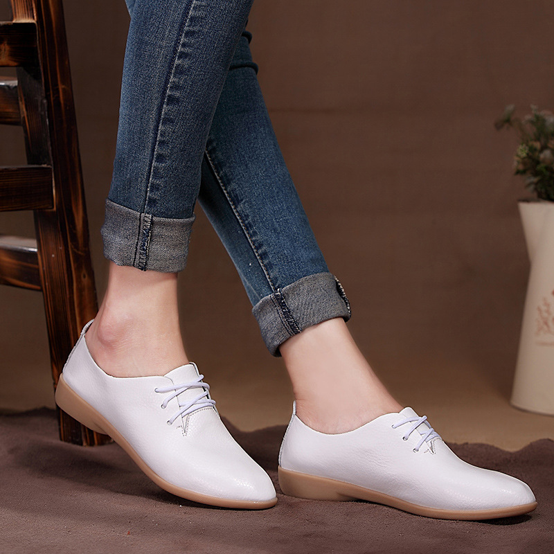 Spring Women Flats Soft Moccasins Footwear Women Casual Shoes Pointed Toe Comfortable Ladies Loafers 2018 Spring Summer Shoes summer slip ons 45 46 9 women shoes for dancing pointed toe flats ballet ladies loafers soft sole low top gold silver black pink