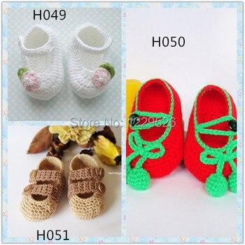 Fashion handmade infant Shoes 0-12M Crochet baby фото