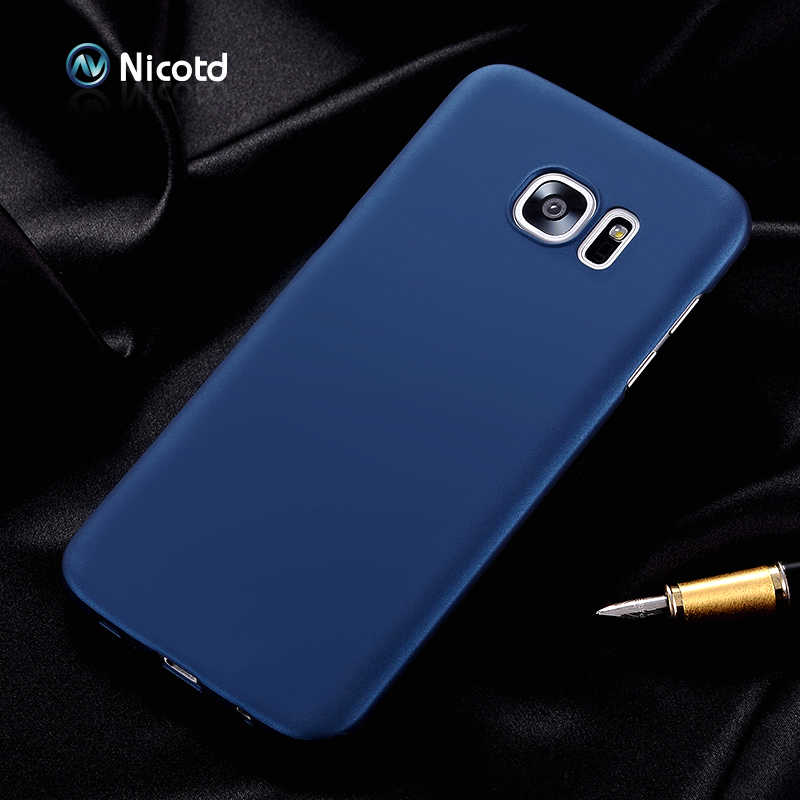 Nicotd Luxury hard Plastic Matte Case for Samsung S8 Plus S4 S5 S6 S7 edge Full Cover PC Cell Phone Case For Galaxy Note 3 4 5