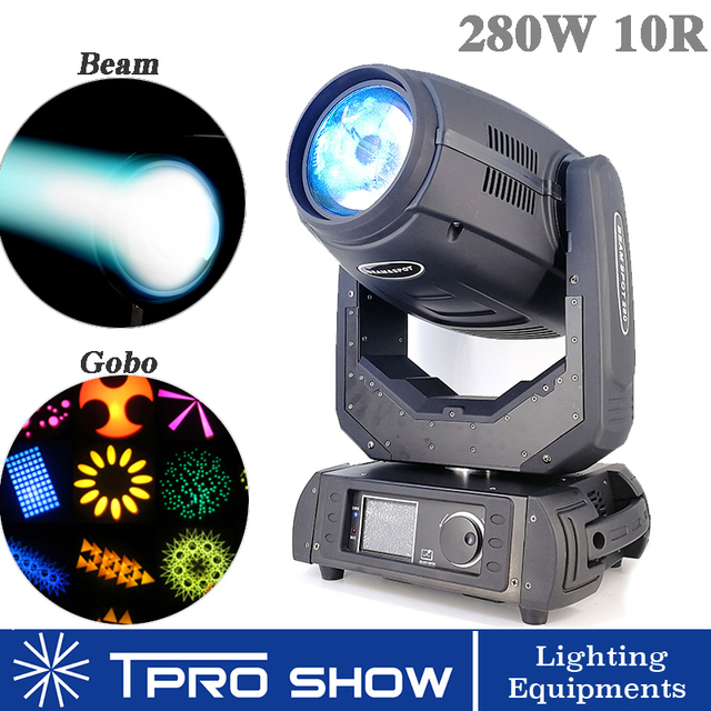 280W Moving Head 10R Lyre Beam Spot Wash Moving Stage Light Head Dmx 512 Control for Professional DJ Disco Live Show MHB280