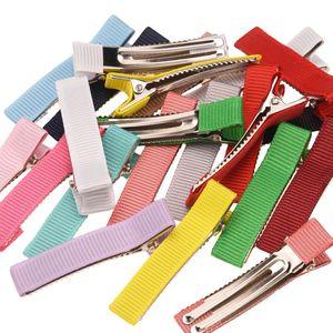 Image 1 - 180pcs  4.5cm Grosgrain ribbon Hairclip Boutique Clips DIY Accessory Fashion Hair Accessory Boutique Barrette Hair Bows Hairpin