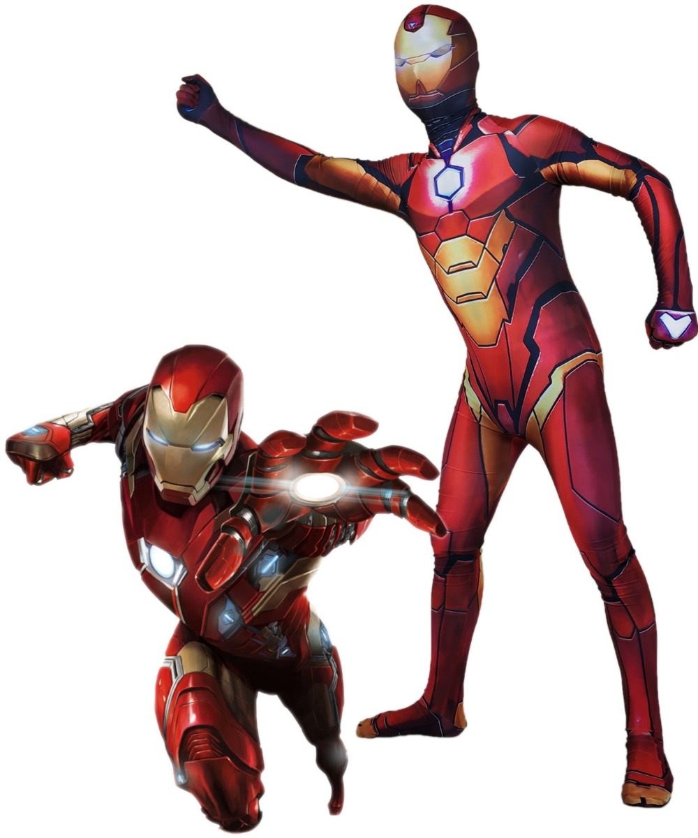 Iron Man Cosplay Costume Zentai Superhero Bodysuit Suit Jumpsuits for adults and kids