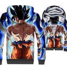 2018 men winter super Saiyan Anime sweatshirt thick swag coats Dragon Ball jackets male harajuku hoody 3D Printing brand clothes