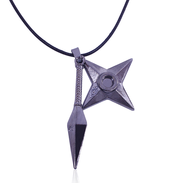 Shuriken Kunai Pendant Necklace