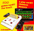 Subor Nostalgia Clásica Original de La Familia de Vídeo Jugador del Juego de Consola Con 2 gamepad + Envío 500 Tarjeta de Juego