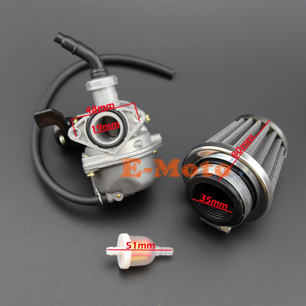 Pz19 Lever Choke Carburetor 50 70 90 110 125cc For Honda Crf Atv China Wiring Taotao Chinese 35mm Air Filter With Fuel Free Shipping In From
