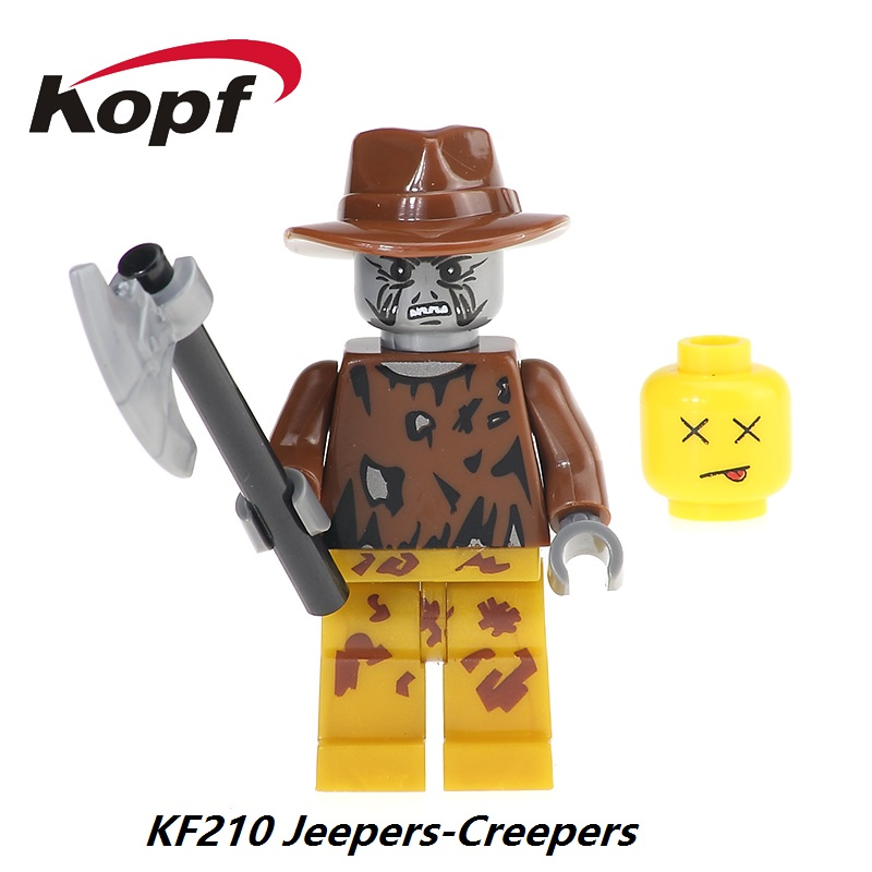 The Horror Theme Movie Jeepers Creepers Clockwork Orange Nightmares Sally Shock Baymax Building Blocks Toy for children KF210 the infernal devices 1 clockwork angel